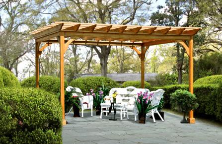 Gera Gardens 187 Wood Pergolas
