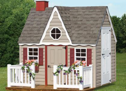 Gera Gardens 187 Vinyl Colonial Playhouse